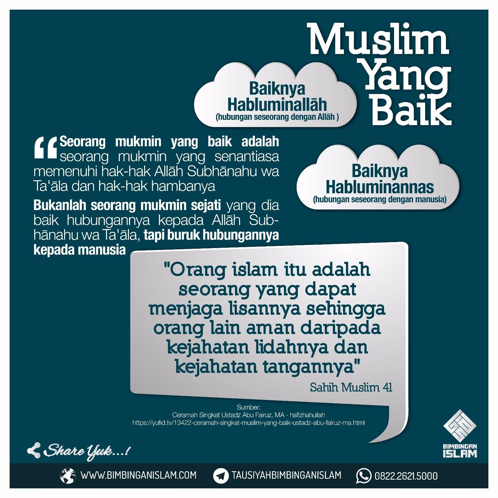 Ceramah Singkat Muslim Yang Baik Apbias